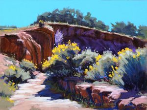 Pastel landscape by Mike Mahon