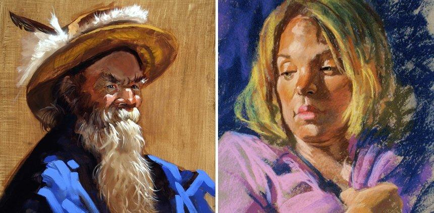 Doc-Charlie-portrait-oil-pastel