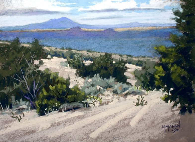 Landscape Painting in pastel by Mike Mahon Santa Fe