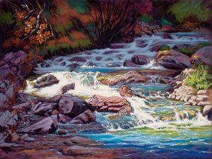 """Oli Painting """"Living Breathing Waters"""""""