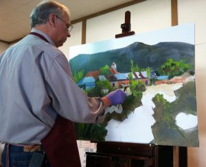 Mike Mahon paints New Mexico in oil