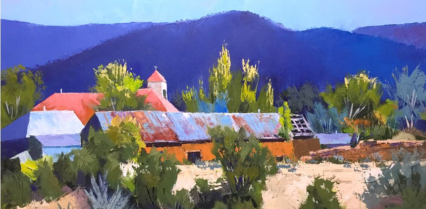 Villanueva-Ridge-Landscape-Oil painting