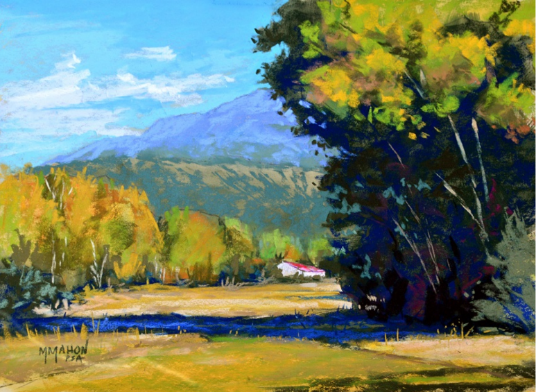 DEMO: High Road to Taos Vista pastel landscape painting