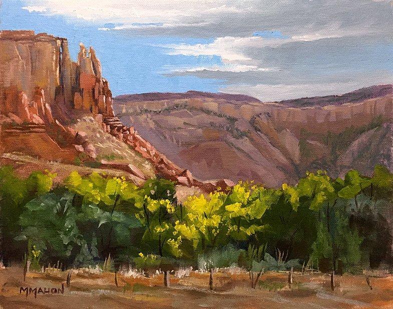 Oil Landscape by Mike Mahon