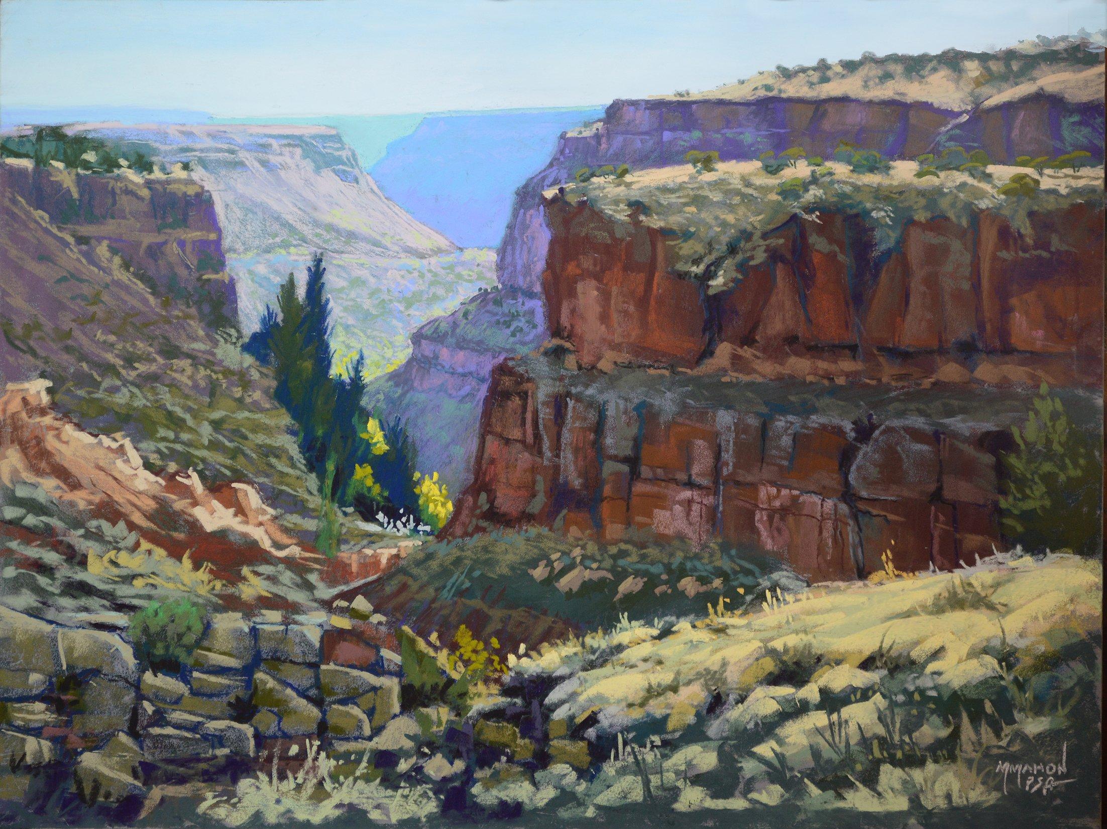 Pastel Landscape by Mike Mahon Rio Grande Gorgeous