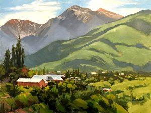 Oil Painting Truchas Highlife Landscape Oil