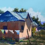 Washday in Truchas Landscape Mike Mahon