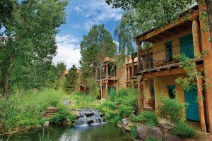 Courtyard of El Monte Sagrado Resort