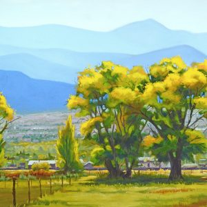 Oil painting of Taos Autumn