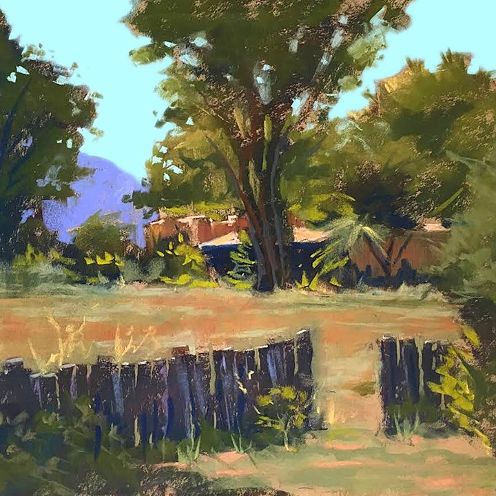 Pastel Landscape by Mike Mahon Over the Fence Neighbor