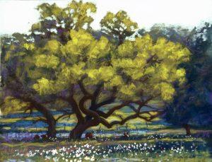 Pastel, Grazing in Grandeur by Mike Mahon